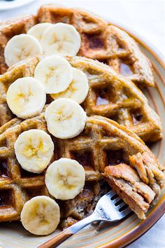 Blender Rice Banana Gluten Free Waffles! Blend, pour, cook! Dairy free and gluten free Waffles that are Freezer friendly. Breakfast anytime. Vegan option.