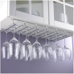 Wine Enthusiast Hanging Metal Stemware Rack