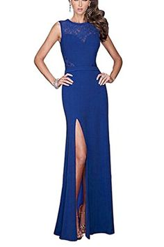 Viwenni® Women's Floral Lace Long Evening Wedding Bodycon Cocktail Party Dress >>> Check out the image by visiting the link.