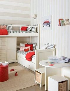 Small bedroom but space was used very wisely and it's sooooooooo cute!!!!!! I love the idea!!!:)