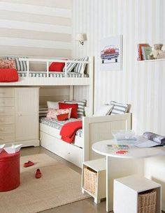 Small bedroom but space was used very wisely and it's sooooooooo cute!!!!!! I love the idea!!!:)
