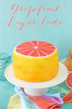 Grapefruit Layer Cake | From SugarHero.com
