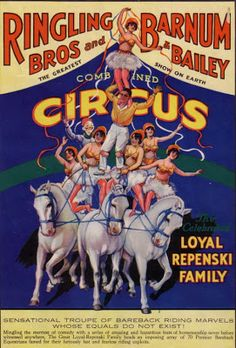 Circus Poster, classic Ringling Bros & Barnum & Bailey all together!