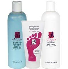 Total body wrinkle-free kit! With AHA's, Vitamins E, Aloe and more! Full kit $25.50 @HighHeelsandHotFlashes #alphahydrox
