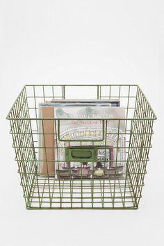 Wire Locker Basket   UrbanOutfitters $19.00