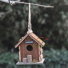 Well-selected handwork bird house provides the birds with feed and space, you will have a lot of fun feeding the birds.  $ 19.99