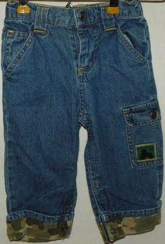 a67bfb84e2c John Deere Infant Boys Denim Blue Jeans Size 12 Months