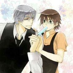 Usagi x Misaki - Junjou romantica; such a sweet and romantic yaoi. Anime Love, Anime Guys, Junjou Romantica Misaki, Kawaii Anime, Usagi San, Shounen Ai Anime, Jimin Fanart, Miyagi, Anime Ships