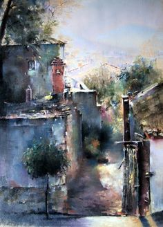 "Saatchi Art Artist shahrzad Vaziri; Painting, ""Old Alley"" #art"