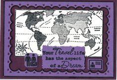Wie krijgt er geen zin om op vakantie te gaan met deze wereldkaart stempel van Marianne D? De tekst en de icoontjes zijn van de stempelset Around the world/Your travel Life. Verkrijgbaar bij http://www.multihobby.nl/marianne-design-stempels-nederland-europa-en-wereld#
