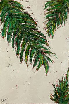 Palms painting abstract art Mai Tai Breezes by © Kirsten Reed Art