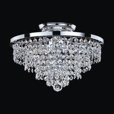 Glow Lighting Vista 13-in W Silver Pearl Crystal Semi-Flush Mount Light   LOWES  $185.30