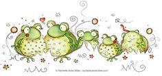 Funny Frog Family by Rachelle Anne Miller, via Flickr