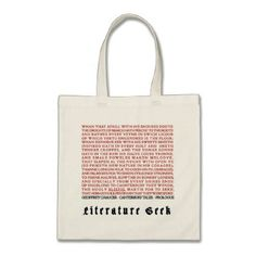 #Literature Geek - Chaucer Tote Bag - #giftsforher #gift #gifts #her