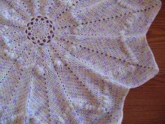 Rosy Baby Blanket Round Ripple Free Crochet Pattern