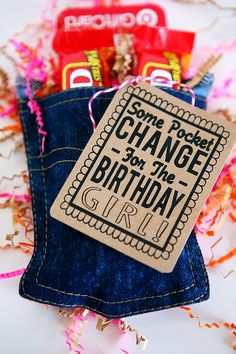 Pocket Change Birthday Gift with free printable.