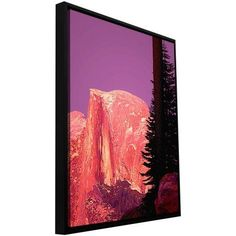 ArtWall Dean Uhlinger Halfdome Glow Floater Framed Gallery-Wrapped Canvas, Size: 18 x 24, Pink
