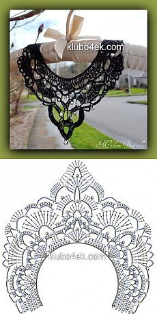 Best 12 47 Ideas Crochet Lace Collar Accessories For 2019 – SkillOfKing. Crochet Collar Pattern, Col Crochet, Crochet Necklace Pattern, Crochet Lace Collar, Crochet Jewelry Patterns, Crochet Mask, Crochet Buttons, Crochet Diagram, Crochet Accessories