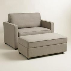 at WorldMarket.com:Chad Living Furniture Collection, twin sleeper and storage ottoman