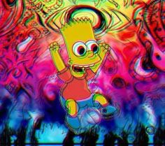 #psychedelic #simpsons #bart