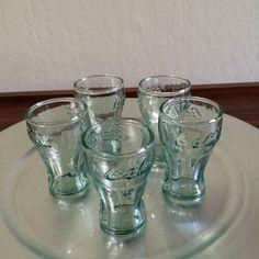 Miniature Coke Glass Small Coke Shot Glass Green by ACertainFeel