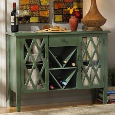 Beckley Green Wood Cabinet