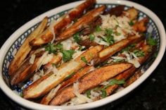 This healthy version of fries can make you feel good without the burst and crash of caffeine or too much sugar.  Up it further with sweet potatoes!