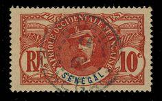 SÉNÉGAL - 1908 - CACHET À DATE DE N DANDE SUR 10c FAIDHERBE - RARE