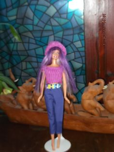 HANDMADE CLOTHES FOR BARBIE DOLL - OUTFIT  ID 977  (8) (nannycheryl original) £4.00