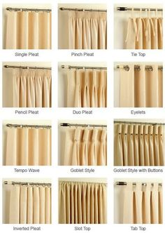 Design Guide: Adding drapes to your decor. How to measure for curtains. Decorating with drapes. Shopping for curtains and curtain hardware. Home Curtains, Hanging Curtains, Curtains With Blinds, How To Hang Curtains, Linen Curtains, Valances, Pinch Pleat Curtains, Types Of Curtains, Diy Blinds
