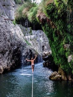 Someday I wanna be able to slackline in places like this!