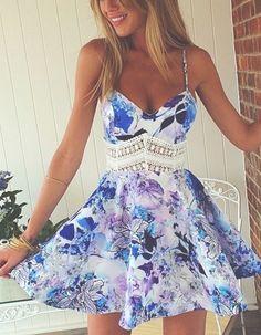 Adorable Summer Print Dress -GirlyGrlPrincess