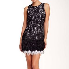Gorgeous holiday dress Feather dress. Perfect for holidays parties. Endless Rose Dresses