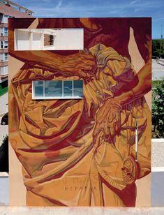 Hipatia de Alejandría Art Graphique, My Canvas, Street Art Graffiti, Street Artists, Community Art, Public Art, Urban Art, Wall Art, Valencia Spain