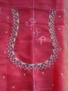 Saree Blouse Neck Designs, Simple Blouse Designs, Stylish Blouse Design, Bridal Blouse Designs, Kurti Embroidery Design, Hand Embroidery Designs, Saris, Mirror Work Blouse Design, Maggam Work Designs