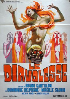 Le Diavolesse #movie #poster by Sandro Simeoni 1971