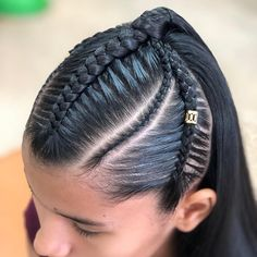 Image may contain: one or more people and closeup Kids Braided Hairstyles, Black Girls Hairstyles, Down Hairstyles, Cute Hairstyles, Cute Box Braids, Big Afro, Afro Puff, Box Braids Styling, Braids For Kids