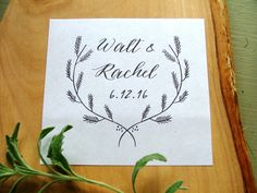 Rubber Stamp logo by sweetinvitationco on Etsy, $25.95