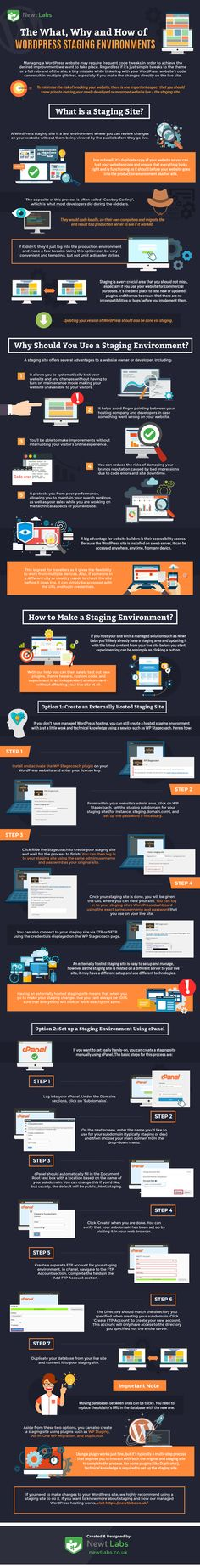 The What, Why and How of WordPress Staging Environments #Infographic