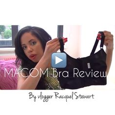 cea2d891d361e MACOM post surgical bra review by Vlogger Racquel Stewart - ideal for post-breast  augemtation