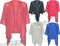 New Chiffon Bolero Shrug Cardigan S M L XL #GF1107 | Shrug ...