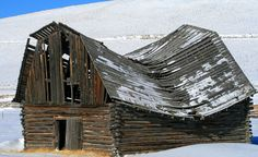 What's really sad is I've had days where I felt like this poor neglected barn. Just plain beat up!