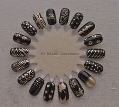 Black and gold nail wheel