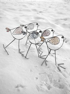 Wire and glass bead birds in the sand. | by Alena (mat.alena on Fler)