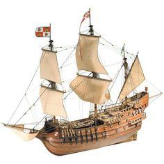 SAN FRANCISCO II - Los galeones aparecieron en la mitad del siglo XVI en la Armada Invencible. Durante casi 150 años fueron los barcos de guerra por excelencia. Sus tres niveles de cubierta, la riqueza de su equipamiento y su aspecto imponente y robusto hacen del San Francisco II un modelo verdaderamente espléndido.