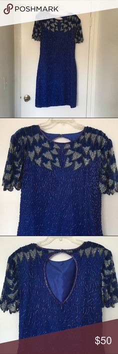 Beautiful Sequined Dress. Beautiful Sequined Dress. Size is a 10/12. I wore this just once for a special occasion. In perfect condition. This dress is sure to make you the hit of the party. Beautiful detailing. Dresses