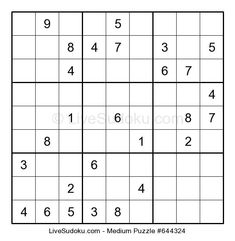 Hard Sudoku puzzle number This Sudoku is a bit more difficult than what people are used to solve. Use our tutorials to learn advanced Sudoku techniques to solve this one. Hard Puzzles, Sudoku Puzzles, Sudoku Online, Music Theory Worksheets, Same Love, Medium, Easy, Thoughts, Parents