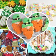 Top sugar cookie decorating tutorials of the week! Irish Cookies, St Patrick's Day Cookies, St Patricks Day, Cookie Decorating, Cookie Tips, Tutorials, Pretty, Blog, Sugar