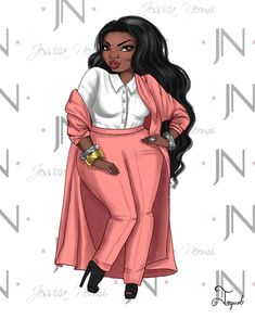 "Have you guys heard of @jessicaneomi? It's a new plus size brand with versatile clothing for the contemporary woman. Their "" Chic Simplicity"" line features 12 coordinating styles that mix and match to create over 1000 possible looks! Please check them out. ........... ............. .............. ......... #jonquelart #instagood #instaart #digitalart #fashionillustration #illustration #plussize #curves #celebratemysize #pink #art #picoftheday"