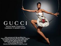 Rihanna, Gucci Tattoo Heart Collection